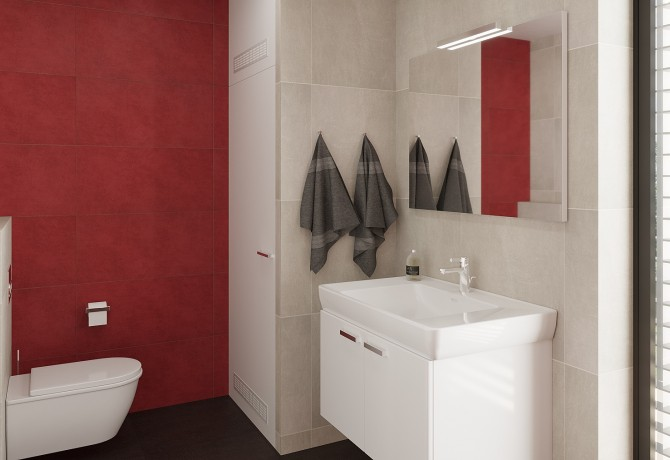 Bathroom design for two apartments.