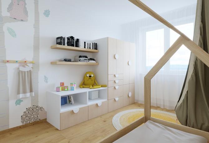 Design of 3kk appartment Barrandov